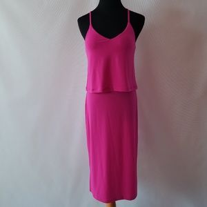 Banana republic pink midi dress size xs